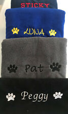 More details for dog microfibre towel - personalised - name / paws - choose size