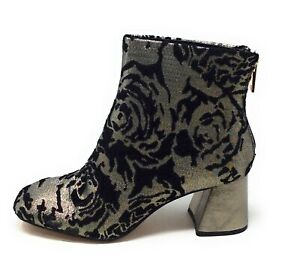 Nanette Lepore Womens Rose Heeled Ankle Bootie Pewter Size 7.5 M US