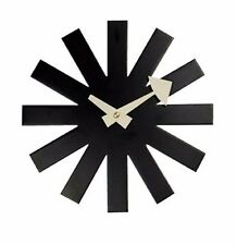 mid century danish modern nelson style black asterisk wall clock