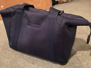 Dagne Dover Landon Carryall Bag FLAWS Navy Blue Tote Travel Duffle Medium