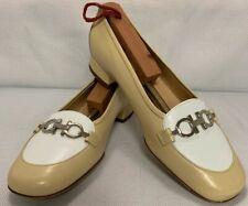 Salvatore Ferragamo Boutique Women's Tan Taupe Leather Flats Low Heel Shoes 7.5