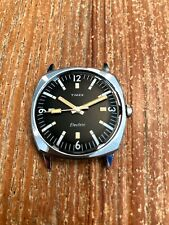 Vintage Timex Electric Watch (for repair/parts) Black Dial Looks Beautiful