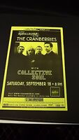 Genuine 1999 The CRANBERRIES W/ Collective Soul Music Concert Poster Flyer Ad