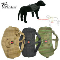 Tactical Pet Dog Vest Adjustable Nylon Training Military Patrol Service Harness