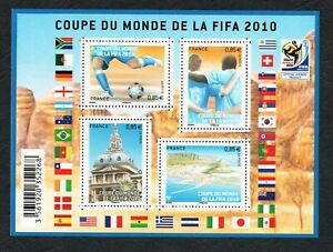 2010 - France - Football World Cup FIFA- South Africa - Soccer - Minisheet MNH**