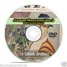 Jugend, Vintage German Art Nouveau Magazine Jugendstil, 436 Issues Vol 3 DVD C26