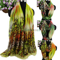 Women Vintage Colorful Leopard Spots Print Long Scarf/Infinity Casual Scarf New