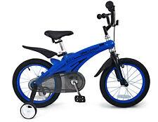 "16"" Magnesium Alloy Children KID BMX Bike with training Wheel Blue"