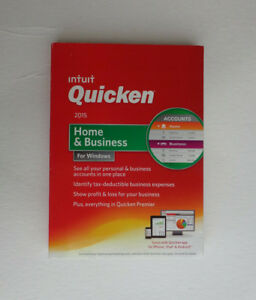 Intuit Quicken Home and Business 2015 For Windows(Factory sealed retail DVD case