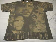 MALCOM X ~ Vintage RARE~ Front/Back Graphics T Shirt XL Black Hip Hop