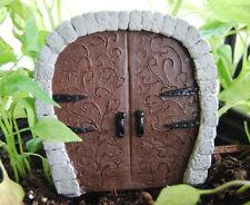 Elf Hobbit Dragon Tooth Fairy Miniature Double Door - Dollhouse Garden US Seller