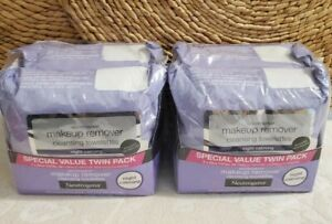 (4) Neutrogena Makeup Remover Cleansing Towelettes Night Calming 100 Towelettes