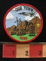 1998 ~ OUR TOWN ~ Cub Scout Day Camp ~ BSA Boy Scout Patch 75WT