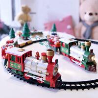 Christmas Tree Train Set Polar Toy Toddler Electric Whistle Train Tracks Vill FE