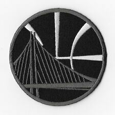 NBA Golden State Warriors Iron on Patches Embroidered Badge Patch Emblem Black