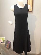 D E C A robe debardeur asymetrique polyester viscose noir Taille 38