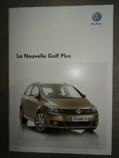 Catalogue Volkswagen La Nouvelle GOLF Plus Edition Mars 2009 24 pages NEUF