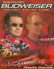 2005 Brandon/Kenny Bernstein Budweiser Top Fuel NHRA postcard