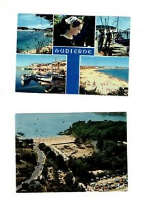 Lot of 13 postcards - Beaches - from the 70s