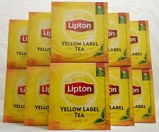 10 x 100 Beutel Lipton Tee yellow Label tea -10 x 200 g- schwarztee aus England