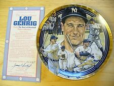 "The Hamilton Collection - ""The Best of Baseball"" Lou Gehrig Plate - 6 1/2"" - NEW"
