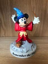 Mickey Sorcerer's Apprentice Fantasia Disney Remember The Magic Figurine Vintage