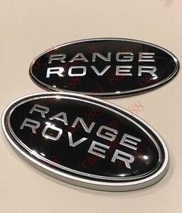 Black Grill and Trunk Oval Badge Emblem For Range Rover Sport Velar Evoque
