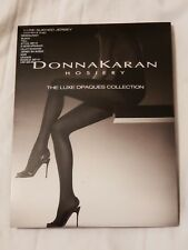 Donna Karan Luxe Sueded Jersey Control Top Tights, Black, Tall