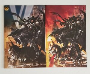 2 Batman who laughs #1 and variant, Tyler Kirkham autographed set with COA