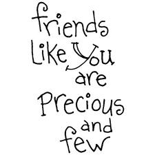 INKY ANTICS RUBBER STAMPS FRIENDS LIKE YOU ARE PRECIOUS AND FEW NEW wood STAMP