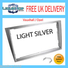 VAUXHALL OPEL TIGRA 07> DOUBLE DIN LIGHT SILVER FASCIA FACIA CT24VX21