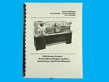 """Clausing Colchester 13"""" Lathe 8000 Series Instruction & Parts List  Manual  *371"""
