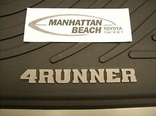 2003-2009 4RUNNER ALL WEATHER RUBBER FLOOR MATS 4PC SET GENUINE TOYOTA ACCESSORY