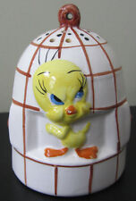 RARE Warner Brother's Bros Tweety Bird Ceramic Porcelain Salt & Pepper Shaker