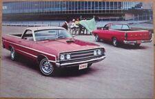 Ford Ranchero Pickup Truck 1968 Chrome Car Postcard