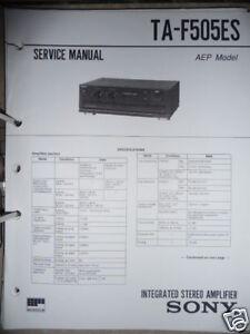 Service-Manual Sony TA-F505ES  Amplifier,ORIGINAL