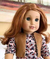 CUSTOM American Girl GRACE DOLL w. aquamarine eyes, light make-up, red #61 wig