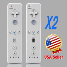 Lot 2 Wireless Remote Controller+ Wrist for Nintendo Wii White USA BIG SALE AL