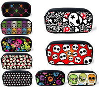 Skull Pencil Case Boy Girl Storage Pouch Purse Cosmetic Make-up Bag Customizable