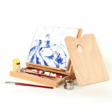 LIVINGbasics® Beech-Wood  Artist Drawer Easel Box and Book Stand with Drawer