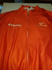 winter cycling jersey Chinese XXXL Strava men's orange new with tags long sleve
