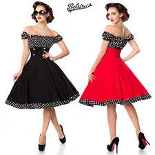 Vestito Vintage Anni 50 Rockabilly Donna PinUp Retro Gonna Svasata Belsira 50058