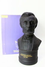 """Wedgwood 8 1/4"""" Basalt Bust of Abraham Lincoln Limited Edition #1131 of 2000"""