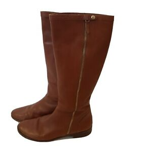 J CREW Women's Light Brown, Leather, Riding Boots SIZE 12