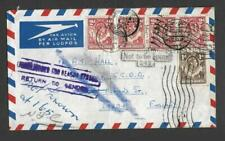 N.RHODESIA,1951 KGV1 AIRMAIL COVER TO UK, VARIOUS CACHETS,RL OFFICE LIVINGSTONE