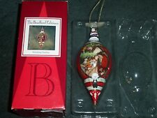 Bradford Editions Porcelain Ornament Finishing Touches Santa Decorating Tree Nib