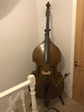 Antoni 3/4 Double Bass With Leather Case, Pickup, Bow, Spare strings and Books.