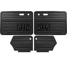 VW Door Panels, Full Set w/Pockets, Black Smooth Vinyl, Beetle Convertible 73-79