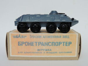 Vintage USSR Soviet Army Military WW2 Cast Metal Armored Tank Tin Toy Carrier #8