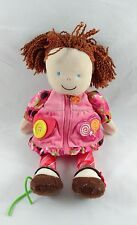 Carters Dress Up Doll Plush Activity Pink Zipper Button Buckle Baby Lovey 13""